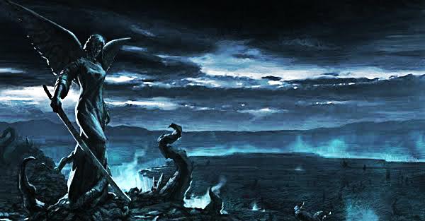 A Batalha do Apocalipse anjos e demônios
