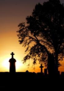 por do sol cemitério